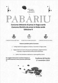 Concorso letteraio Pabàriu. V edizione. Anno 2014.