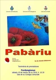 Cerimonia premiazione V edizione concorso letterario Pabàriu.